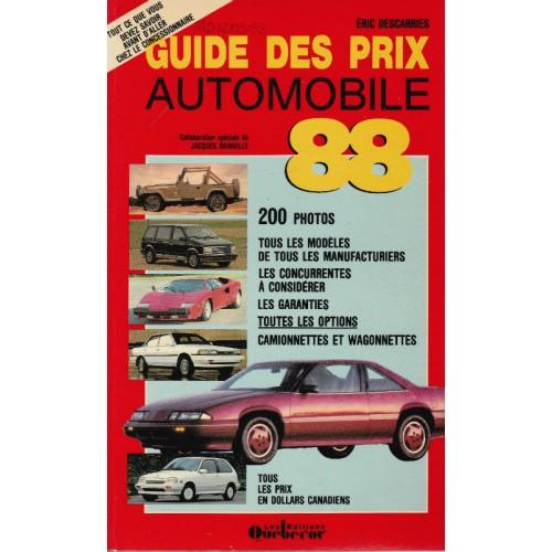 Guide des prix automobiles 1988, Eric Descarries